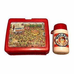 Where's Waldo Vintage 1990 Thermos Lunchbox Set